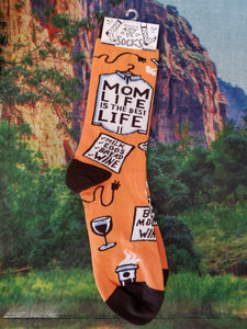 Mom Life is the Best Life - Crew Socks