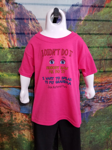 I Didn't Do It Youth Shirt