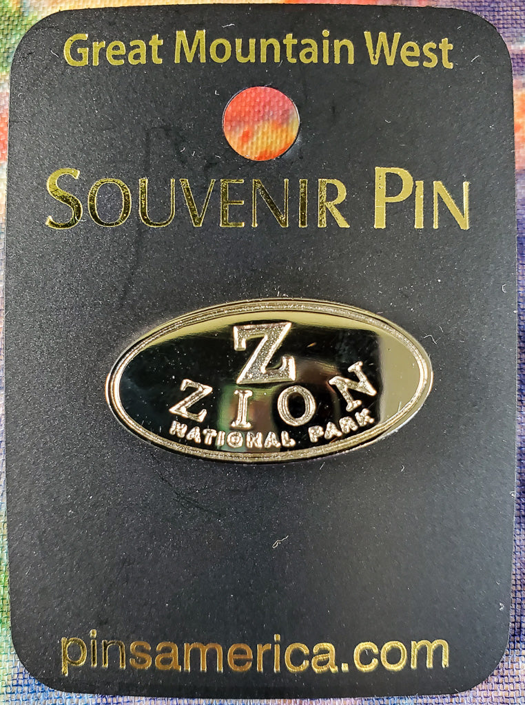 Silver on Silver Zion Souvenir Pin