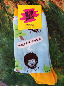 Bob Ross Happy Tree - Women Crew Sock