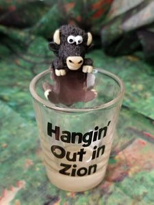 Hanging Out Shot Glass