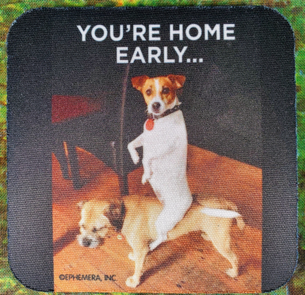 You're Home Early Sassy Drink Coaster