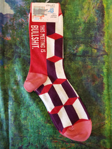 Meeting is Bullshit - Women's Crew Sock