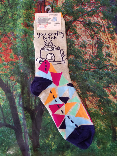 You Crafty Bitch- Women's Crew Sock