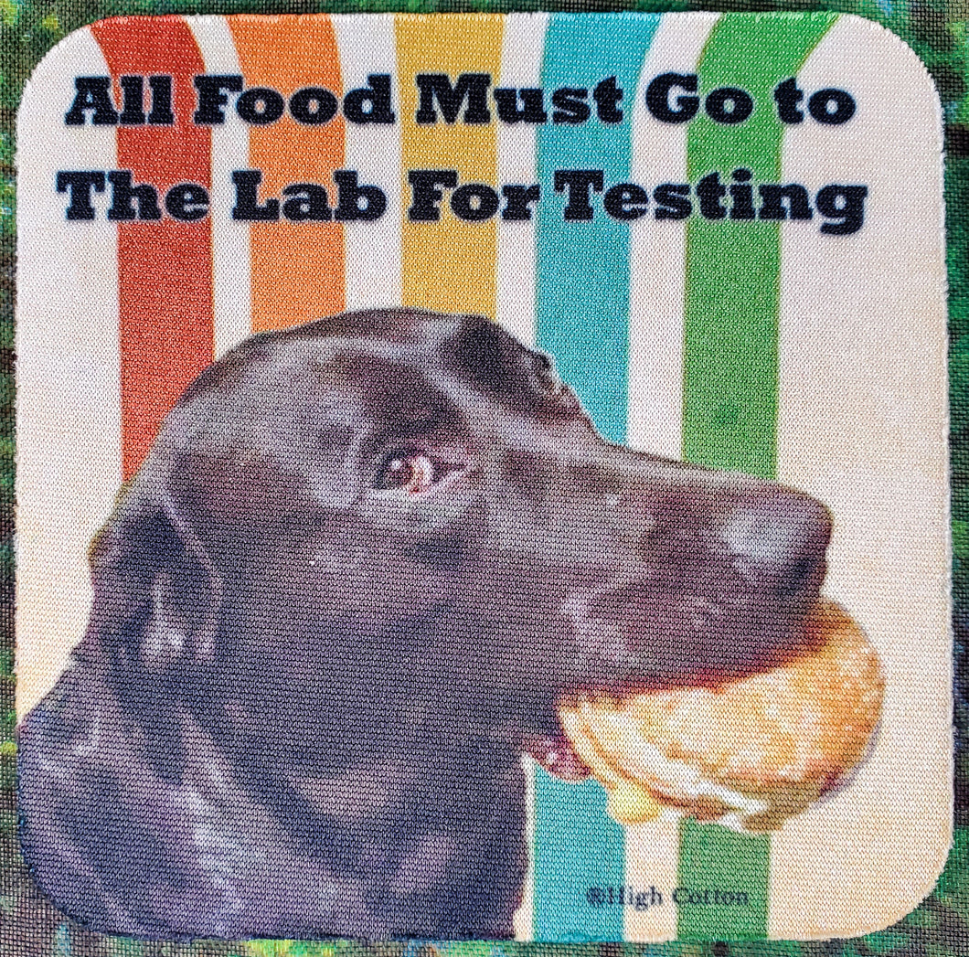 Lab Testing Sassy Drink Coaster