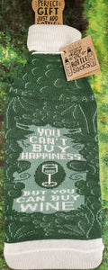 Can't Buy Happiness Wine Bottle Cover