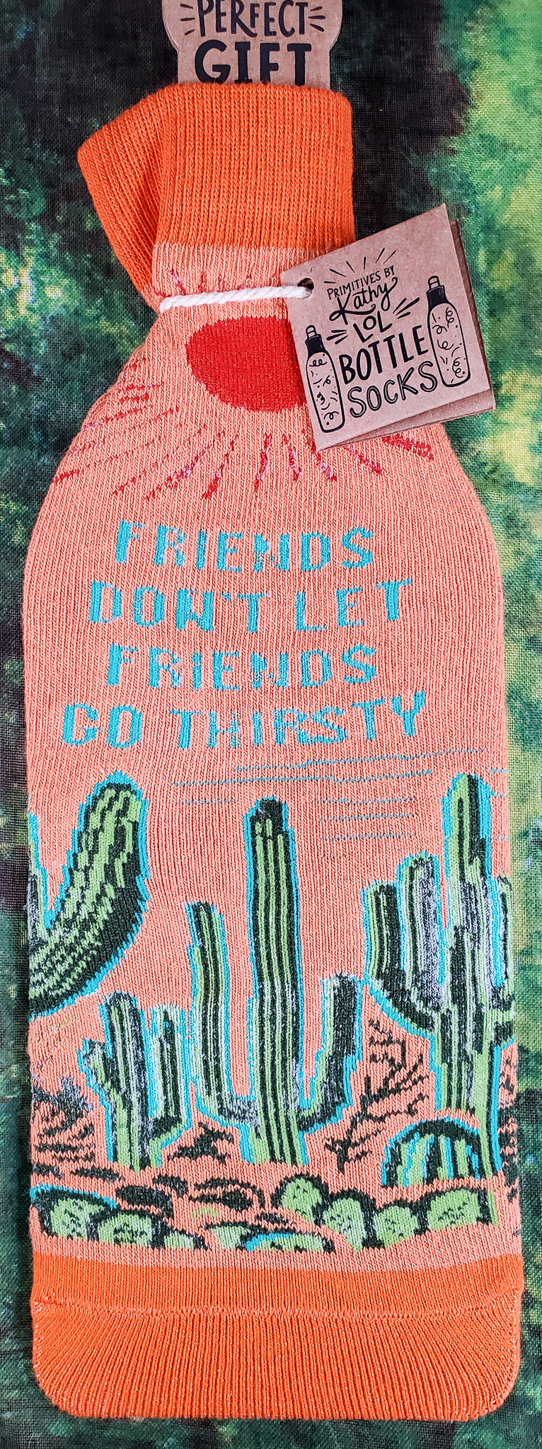 Friends Don't Let Friends Go Thirsty Wine Bottle Cover