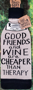 Good Friends and Wine, Wine Bottle Cover