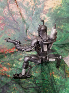 Kneeling Warrior Metal Art