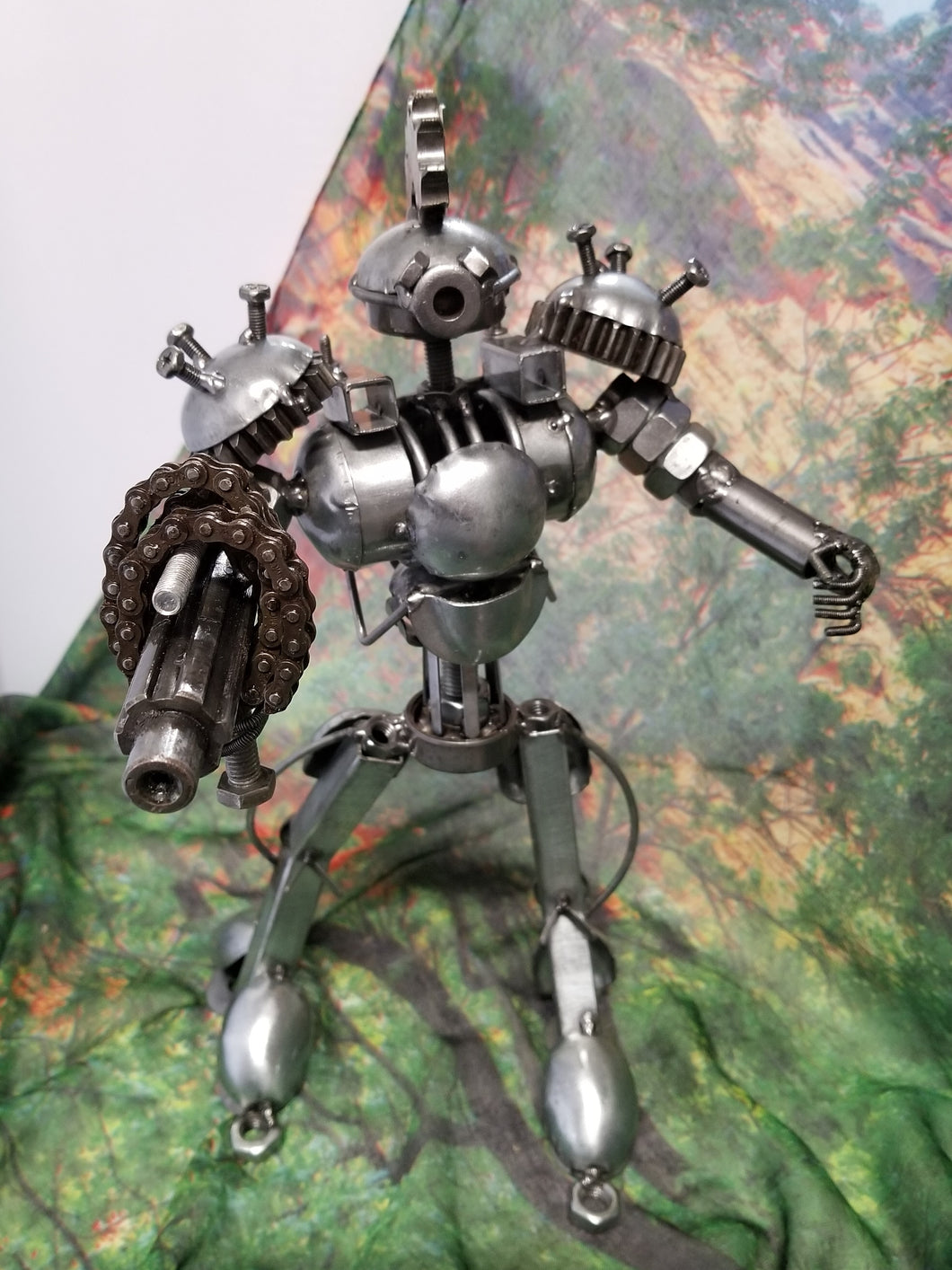 Robot III Metal Art