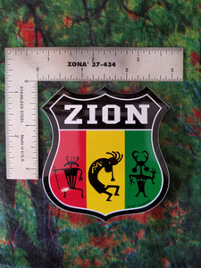 Zion Rasta Roady Sticker