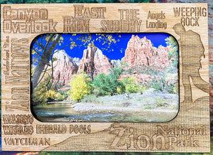 Souvenir Picture Frame Zion Magnetic-Zion Trails