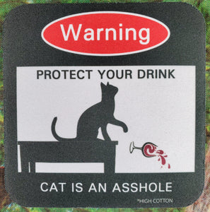 Protect Your Drink, Cat Sassy Drink Coaster