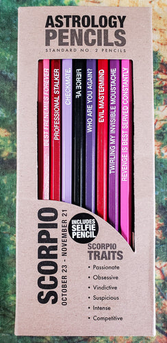 Astrology Pencils - Scorpio