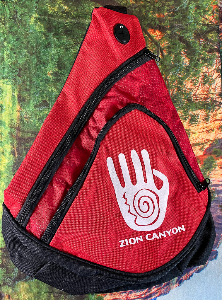 Hand Print Sling Pack