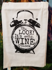 Wine 'o Clock Dish Towel