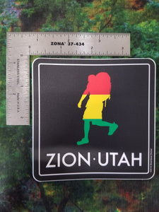 Rasta Hike Square Sticker
