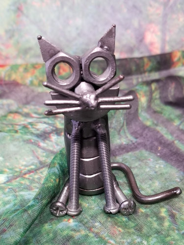Sitting Cat Metal Art