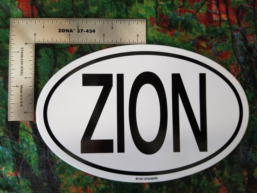 Euro Zion Oval Sticker