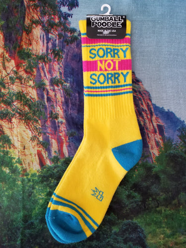 Sorry Not Sorry - Gym Sock