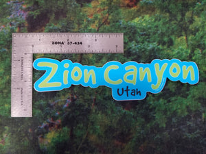 Good Dog Zion Canyon Sticker