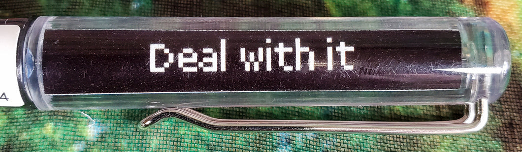 Deal With It Write Side Up Floating Pen