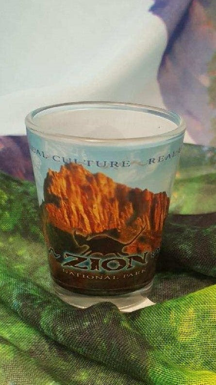Zion Kokopelli Sky Shot Glass