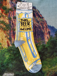 This Beer Is Making Me Awesome - Crew Socks