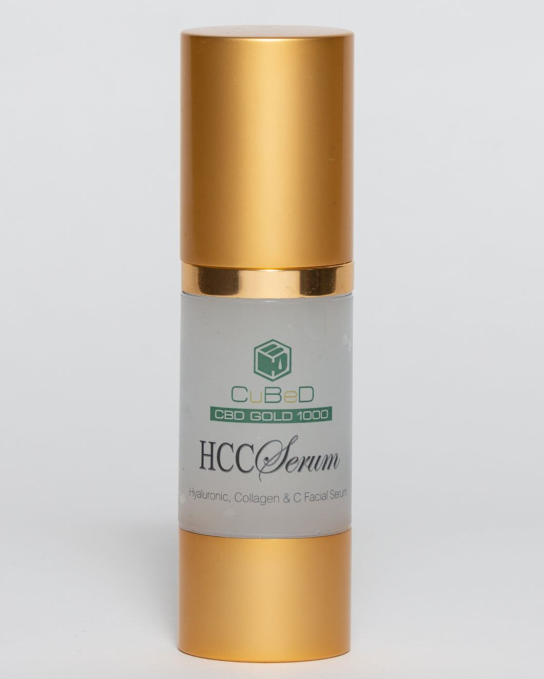 CuBeD Gold Hyaluronic, Collagen, & Vitamin C Serum - 1000mg / 30ml