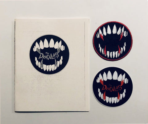 SOLD OUT- A Draculas Zine Sticker and Patch set by The Draculas