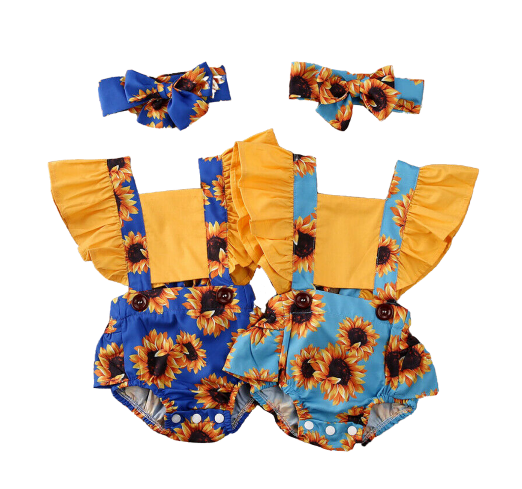Sunflower May Romper Set - PREORDER