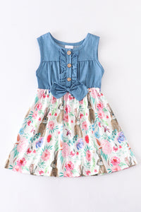 Denim Bunny Bow Dress