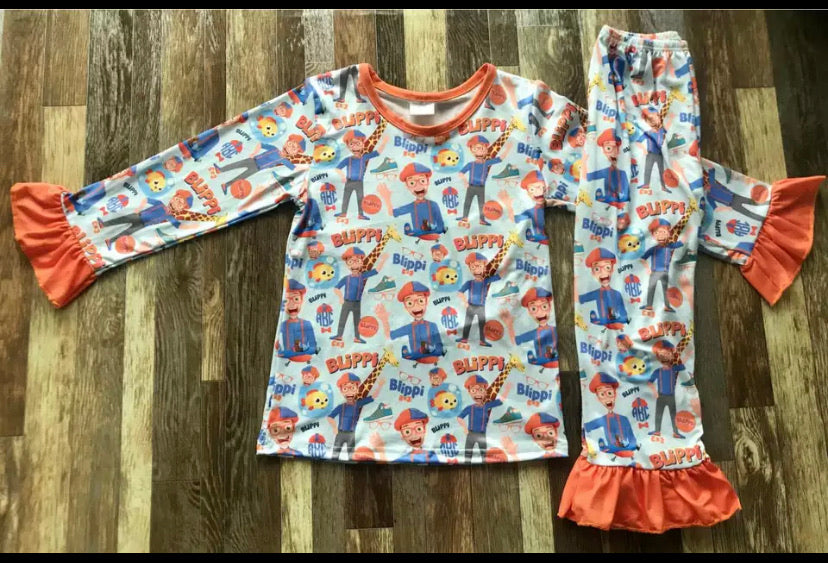 Blippi Girls Long Pajamas