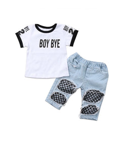 """Boy BYE"" Girls Set - PREORDER"