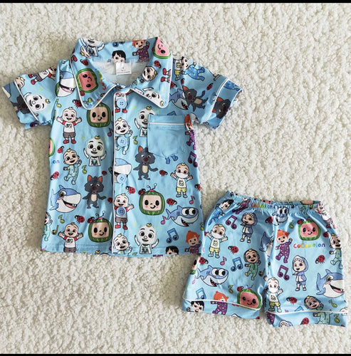 Cocomelon Pajama Set - Blue or Pink