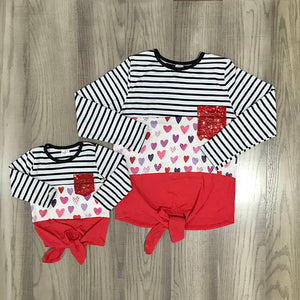 Mommy & Me Hearts & Stripes Top - RTS
