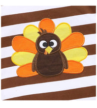 Brown Stripe Turkey Romper - RTS