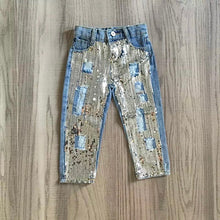 Girly Sequin Denim Jeans - RTS