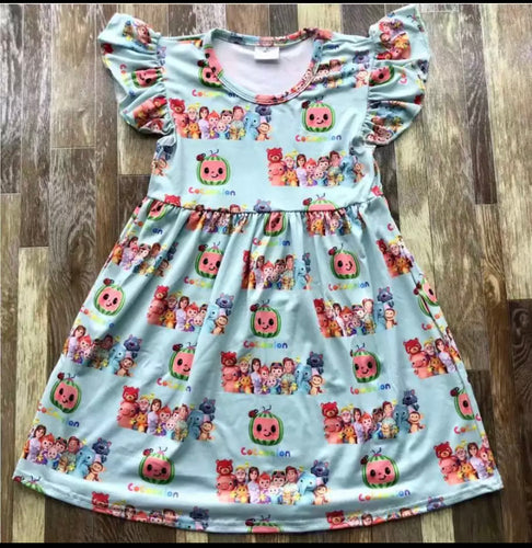 Blue Cocomelon Girls Dress