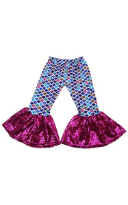Sassy Mermaid Bell Bottoms - RTS