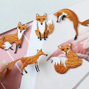 Embroidered Fox Patches