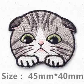 Embroidered Quirky Kitty Patches