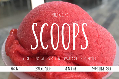 scoops hand lettered font