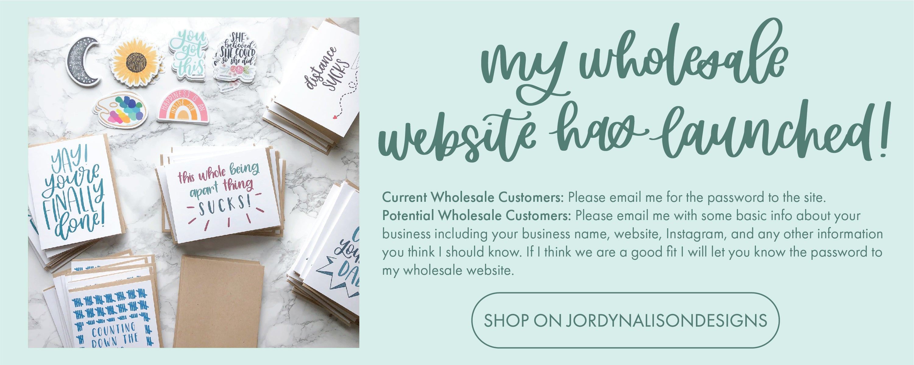 Jordyn Alison Designs Wholesale Information