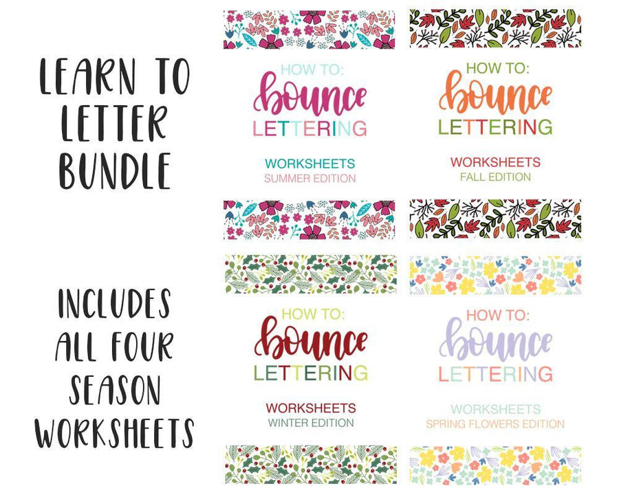 bounce lettering worksheets