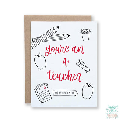A+ Teacher - JordynAlisonDesigns