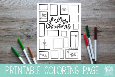 Christmas Presents Coloring Page