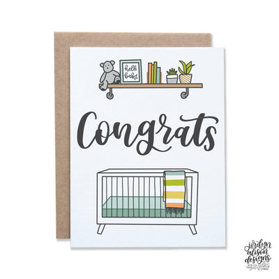 congrats nursery greeting card