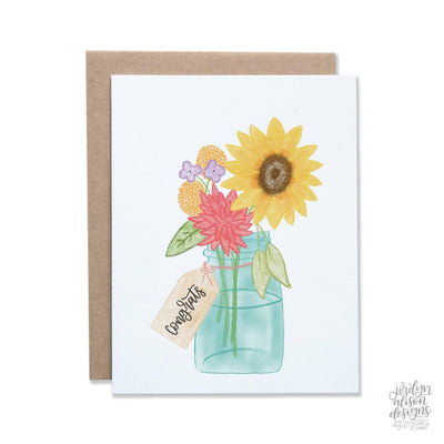 congrats vase greeting card
