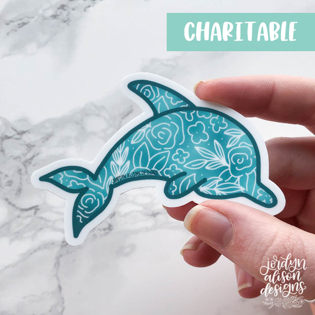 Dolphin, Charity Sticker